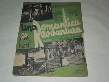 """SPARTITO MUSICALE DEL 1941 """"LA ROMANTICA AVVENTURA"""" VALZER DAL FILM OMONIMO"""