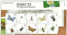 GB Presentation Pack 412 2008 Insects - UK Species in Recovery