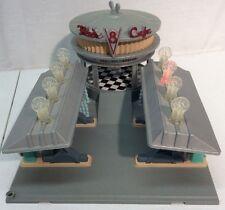 Disney Pixar Cars Flo's V8 Cafe Play Set Light Up Restaurant Diner Gas Station
