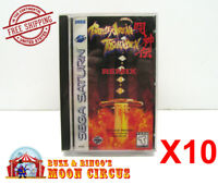 10x SEGA SATURN GAME CLEAR PROTECTIVE BOX PROTECTOR SLEEVE CASE - FREE SHIPPING!