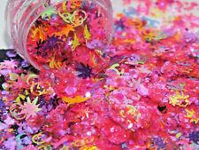 5g Neon Pink LOVE ISLAND Ibiza Summer Vaycay Nail Art Glitter Dust WEED Sequins