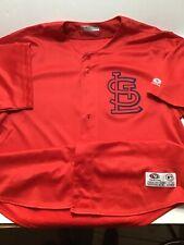 True Fan Cardinals Mlb Button Up Baseball Jersey sz Large (946)
