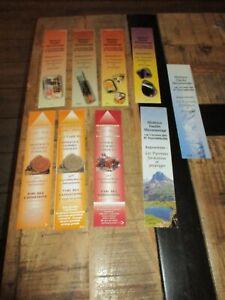 9 Marque pages collectors-Minéraux,gemmes,fossiles,Bijouterie Auchère,