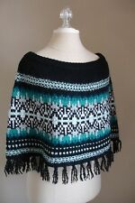 INC Macy's Fair Isle Nordic Knit Poncho Capelet NEW