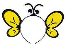 Bienen Haarreif mit Augen und Flügelohren NEU - Karneval Fasching Hut Mütze Kopf