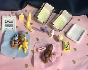 Barbie Mattel Doll Infant Baby Newborn Twins. Barbie Dr Toy Lot. 2002