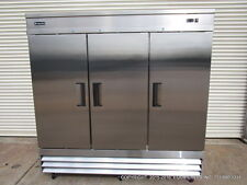 New Equipchefs CFD-3FF Reach-In 3 Swing Solid Door Freezer On Casters CFD
