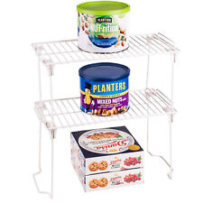 Stacking Shelf Rack 2 Pack Kitchen Cabinet Pantry Shelf Organizer Utility Shelf