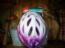 BELL LADIES BICYCLE HELMET WHITE PINK AGES 14+ ADJUSTABLE FIT SAFETY HEAD GEAR
