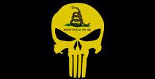 Wholesale Lot of 6 Gadsden Black Tactical Skull Don't Tread On Me Bumper Sticker
