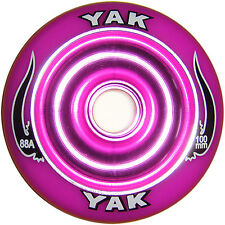 100mm x 88a YAK SCAT Metalcore Scooter Wheel, purple, pair with bearings