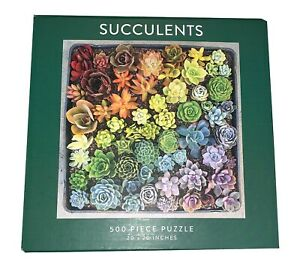 "Succulents 500 Piece Jigsaw Puzzle by Galison NEW SEALED. by Jen Tao. 20"" x 20"""