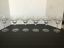 Margarita Stemmed Glasses Set 6 Crystal Clear Glass Glassware Bar Ware barware