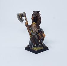 Painted Miniature Lustrian Priest of Ulric.Warhammer Fantasy, Rare METAL