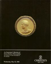RARE - CHRISTIE'S Simon Bolivar Memorabilia Collection Auction Catalog 1988