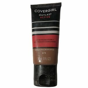 Covergirl OUTLAST ACTIVE 24hr Foundation 875 Soft Sable Oil Free NEW