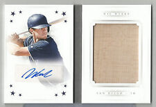 2016 National Treasures Wil Myers Auto/Autograph Booklet Bat Relic PADRES #16/25
