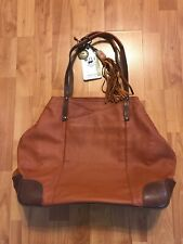 Will Leather Goods Leather Large Tote Handbag Rust Color