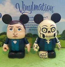 "Disney Vinylmation 3"" Park Set 1 & 2 Haunted Mansion Lot Master Gracey Skeleton"