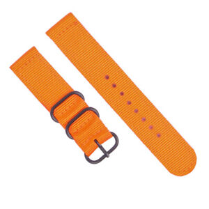 Canvas Straps 18 20 22 24mm Width Nylon Military Sport Stripe 2Pieces Watch Band