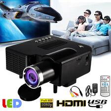 Portable 1080P Full HD LED Mini Projector Home Theater Cinema AV VGA USB HDMI