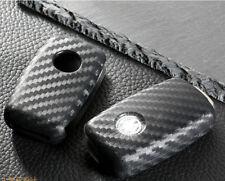 Carbon Fiber Style TPU Soft Smart Key Fob Cover For VW Volkswagen GTI Golf Jetta
