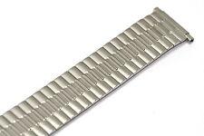 SPEIDEL 16-21MM SILVER TWIST O FLEX STRETCH EXPANSION WATCH BAND STRAP