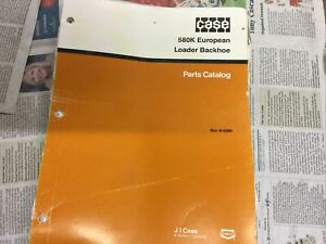 CASE 580k European Loader Backhoe Parts Catalogue 8-4360