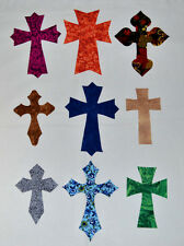 SET OF 9 CROSSES FOR APPLIQUE