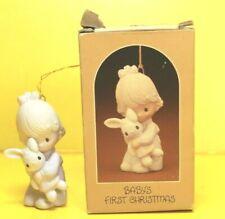 Precious Moments BABY'S FIRST CHRISTMAS Bunny E-5632