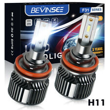 H11 LED Headlight Bulbs 50W Low Beam For Toyota Prius W3 09-15 Prius Plus 11-16