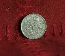 Great Britain 1961 6 Pence World Coin Flower UK British English Rose Shamrock