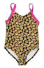Emojination Emoji smiling faces Girls 1 Piece Swimsuit 6 6X Black/Pink/yellow
