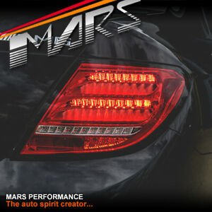 Clear Red LED Sequential Tail Lights for Mercedes-Benz C-Class W204 07-11 Sedan