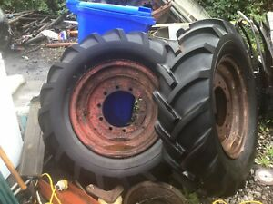 Field Marshall Original Series 1/2. Rear WHEELS TYRES