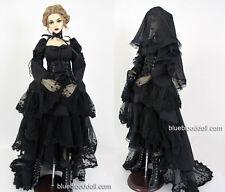 1/3 BJD 62-65cm female doll outfit black wedding dress Feeple 65 SD16 ship US