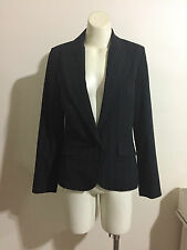 Events Business Pinstripe Black Suit Classic Jacket Uniform Straight Lined White