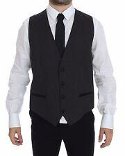 NWT $440 DOLCE & GABBANA Black Dotted Wool Silk Dress Vest Blazer IT52/ US42 / L