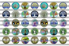 (35) Tree of Life Bottle Cap Image Pre-Cut 16mm