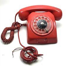 Antique Vintage Original Red Telephone Retro <CT01 (T32)