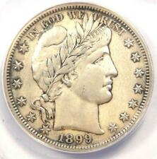 1899-S Barber Half Dollar 50C - ANACS AU50 Details - Rare Date - Certified Coin!