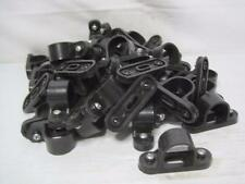 9607 Lot (49) Black Plastic Pipe Mount Bracket Hanger 25mm  FREE Ship Conti USA
