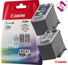PACK CARTUCHO NEGRO PG40 COLOR CL41 ORIGINAL PARA IMPRESORA CANON PIXMA IP 1800