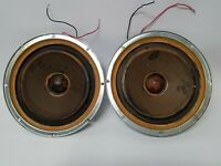 Pair Of Vintage Working 10 Inch KLH Speakers, Woofers With Square Magnet