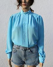 Secretary/Geek Polyester Vintage Tops & Shirts for Women