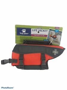 New Top Paw Orange And Small X Small Life Jacket For Dogs 5-15 LBS