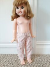 Vintage Handmade Pink & White Pants / Pajama Bottoms - Fit 24 In Toodles Toddler