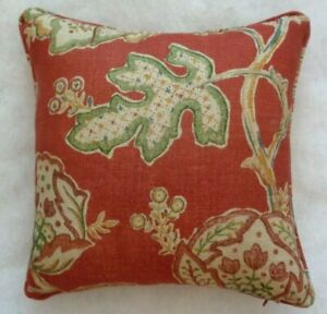 """THEODOSIA RED BY WILLIAM MORRIS 17"""" CUSHION COVER STUNNING DESIGN 100% LINEN"""