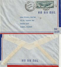 US 1939 TRANS ATLANTIC AIR MAIL FLOWN COVER BOSTON MASS US TO LONDON ENGLAND