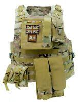 Multicam Tactical Vest / MTP Camo Airsoft Vest + 6 x pouches Phone,Grenade,Mag
